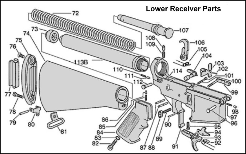 ar 15 exploded view pdf pictures to pin on pinterest